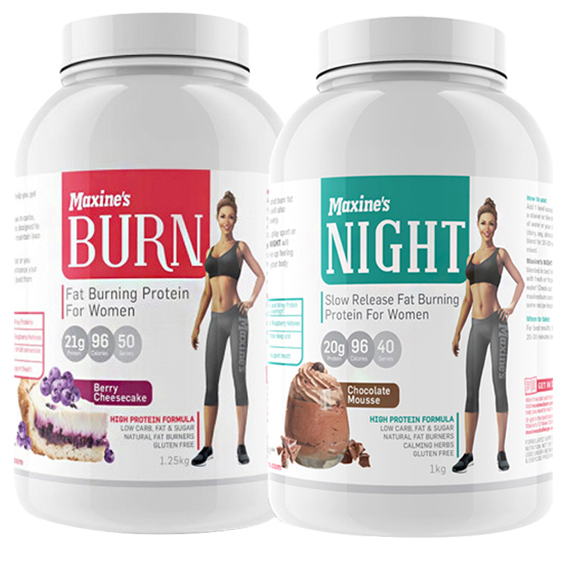 Maxine's Burn + Night Time Protein Stack [Maxine's Burn: Vanilla Ice Cream] [Maxine's Night Time: Vanilla Dream]