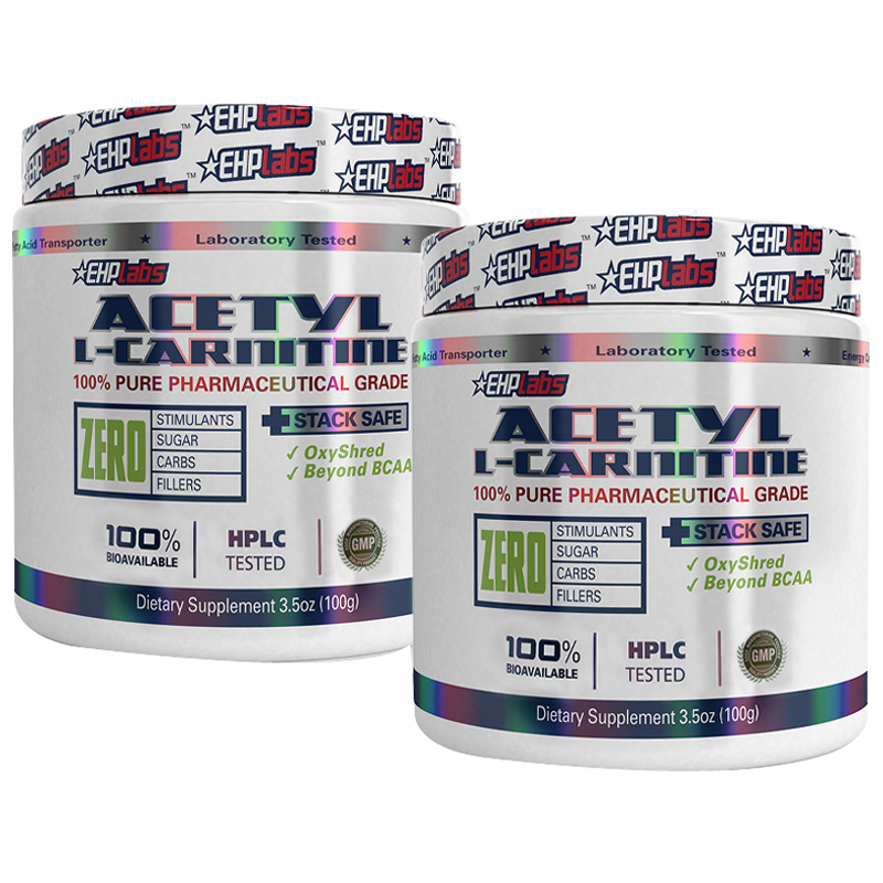 EHPLabs Acetyl L-Carnitine 100g Twin Pack